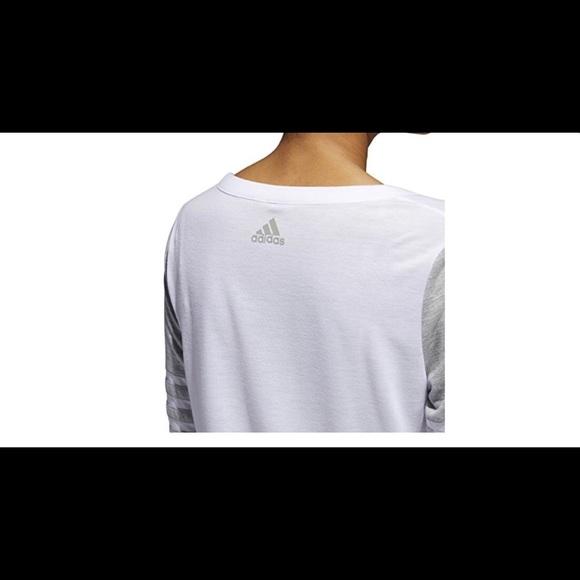adidas Women's Long Sleeve Jersey Top Q4 Wht/grey